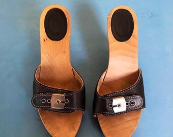 RESERVED FOR CHIRSSIE! - Scholl's Mules - Black - 37/6.5 - Vintage - Ultra rare!