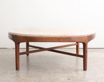 Mid Century Stone Coffee Table