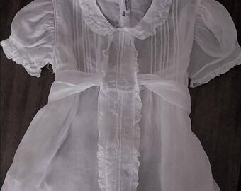 Vintage white organdy dress