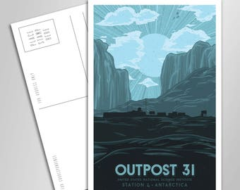 Outpost 31 Vacation Postcard - 4 x 6 inches - The Thing