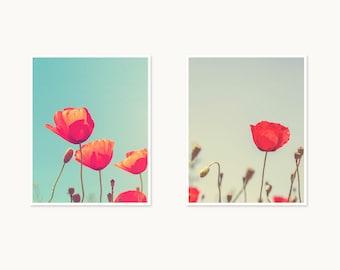 Poppy flower - Set of two prints