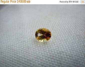 SUMMER FLASH SALE Genuine Montana Sapphire Yellow Orange Oval cut .47 carat Loose Gemstone for Engagement or Jewelry