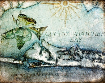 "Choctawhatchee Bay // Destin, Florida  // Metal Sign // 12"" x 16"""