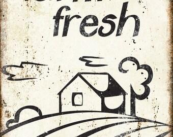 "Farm Fresh // Metal Sign // 12"" x 16"""