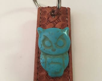 Key chain, leather belt, upcycled