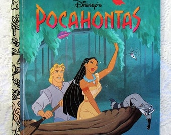 20% Summer SALE Pocahontas, 1990s Golden Book Collectible Children's Book, Excellent condition
