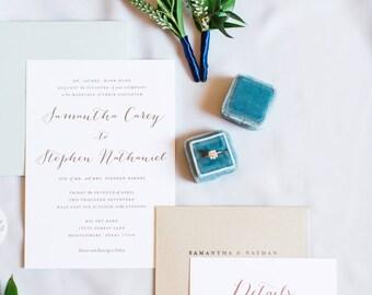 Wedding Invitation, Calligraphy Wedding Invitation, DIY Wedding Invitation, Wedding Invitation Download, Customizable Invitation, Beach