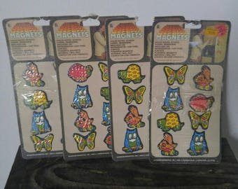 New Old Stock Retro Magnets in Package