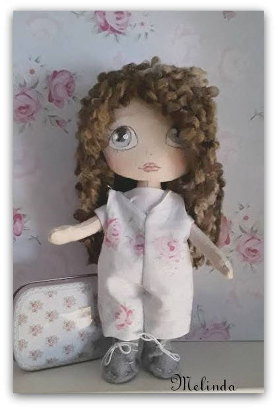 textile doll , doll Princess ,Rag doll handmade,bambola di stoffa Melinda