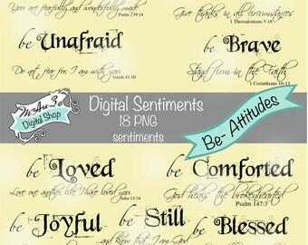 We Are 3 Digital Sentiments - Be-Attitudes, Scripture - 18 sentiments