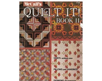 On Sale McCalls 1970s Quilt It Magazine Book II General Quilting Directions/Sun & Shadow Quilt Pattern/Carolina Lily/Grandmas Garden Vintage