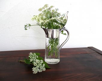 Fluted antique syrup pitcher ~ short and sweet...just enough shab, just enough chic
