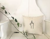 Middle Finger - Accent Pillow