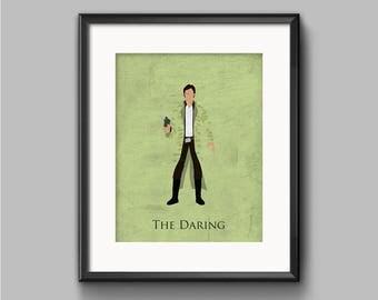 Star Wars Return of the Jedi - The Daring - Han Solo Art Print - poster, rebel, han solo, endor