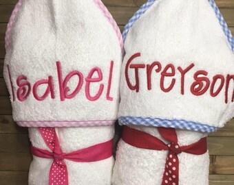 Monogram infant towel