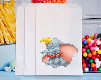 Dumbo Favor Bags, Dumbo goody Bags, Dumbo Popcorn Bags,
