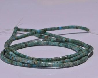 "Turquoise 2.8mm 16"" Strand Beads Heishi Turquoise Beads Natural Gemstone Beads Jewelry Making Supplies"