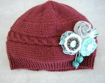 Baby Hat, Baby Girl Beanies, Knit Baby Girl Hats, Baby Beanie Hat, Knit Baby Hat, Girls Beanie Hats, Newborn Baby Hats