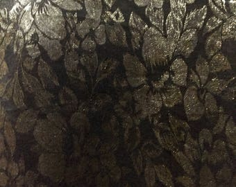 Gold brocade on black in a long luxurious scarf!!