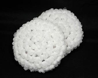 Eco Friendly Kitchen Scrubber, Crochet Dish Scrubbies, Nylon Dish Scrubbies, Scouring Pads, Crochet Scrubbies, Reusable Scrubby, Set of 2