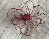 Red Wire Ababoo Brooch