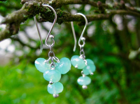 MEDUSA   Chrysoprase Cluster Earrings