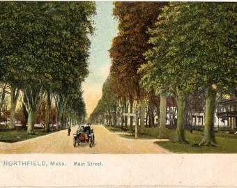 Vintage Postcard, East Northfield, Massachusetts, Main Street, Tuck Postcard