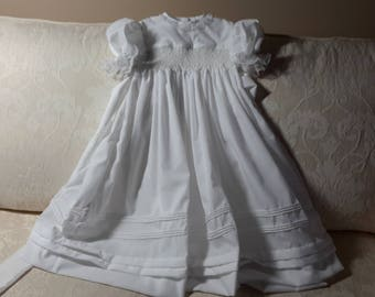 Hand Smocked Christening Gown.....By The My Collection 2