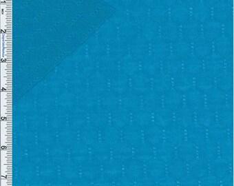 Cyan Tuck Stitch Jersey Knit, Fabric By The Yard