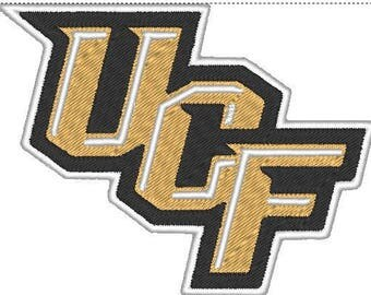 UCF Knights Embroidered Diagonal Iron On Patch
