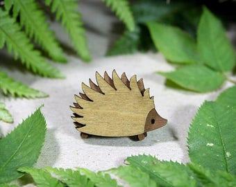 SALE Hedgehog Brooch - Woodland Collection