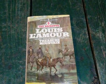 Vintage Sacketts Louis L'Amour Paperback Treasure Mountain Book Western #9
