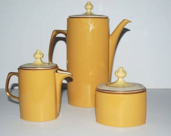 Franciscan Martinique  coffee pot sugar and creamer with lids