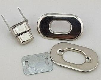 37 mm x 21 mm argent sac à main Twist tour Lock Small