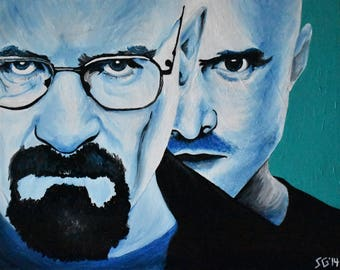 Breaking Bad Acrylic Painting 20x16in