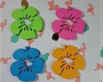 """48 2""""  Hibiscus scrapbook flowers"""