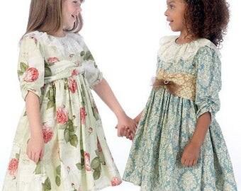 Children's/Girls' Dresses, Belt and Petticoat- McCall's 7075 - Sizes 2-5