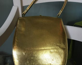 1950s-60s Theodor California Gold Metallic Purse