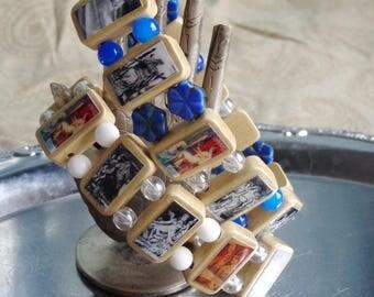 Frigg Wooden Devotional Bracelet.  Pagan Polytheist Heathen Devotional Jewelry. Frigga.
