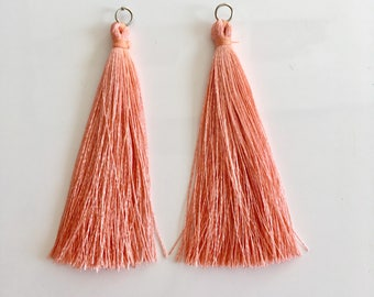 Silk tassel, boho jewelry supplies