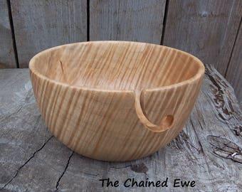 Individually Hand Made Wooden Yarn Bowl, Tiger Maple