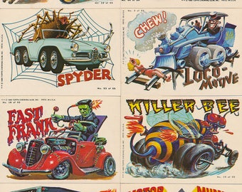 1980 Topps Weird Wheels Loose Trading Cards