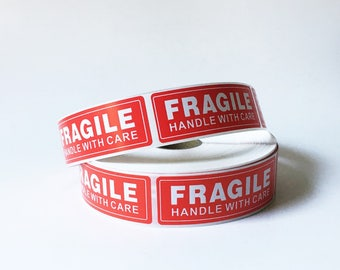Fragile Stickers Package Labels Handle with Care Shipping Labels Etsy Supplies 50 Labels