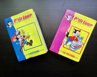French Disney P'tit Loup (Big Bad Wolf) Collectible Cards Small Albums L'Histoire and La Culture