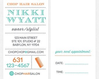hairstylist or hair salon business cards - color both sides - FREE UPS ground shipping