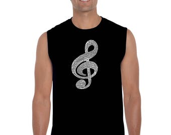 Men's Sleeveless Shirt - Created Using a List of the Most Popular Classical Music Composers of All Time Music Note