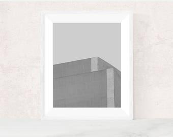 Digital download | THE SILENCE NO.1 | Modern minimalist wall art | brutalist art print | architectural photo | office decor | printable art