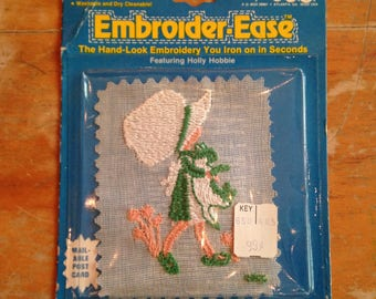 vintage 1975 american greetings holly hobbie iron on applique nos deadstock