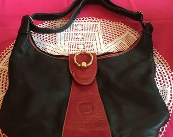 Red Black Handbag Tote SUMMER SALE