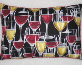Wine Glass Pillow - Accent Pillow - Mini Pillow - Wine Decor - Wine Lover Gift - READY to SHIP